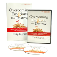 Overcoming Emotions that Destroy, 2 DVDs and Study Guide  -              By: Chip Ingram