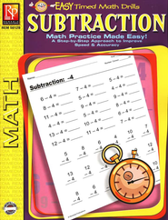 Easy Timed Math Drills: Subtraction   -