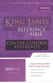 KJV Reference, Imitation Leather Burgundy   -