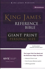 KJV Giant Print Reference Personal Size Imitation Leather Burgundy  -