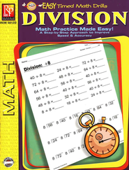Easy Timed Math Drills: Division   -