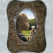 Metal Photo Frame, Grandchildren  -