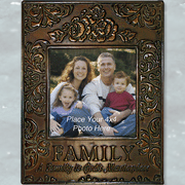Metal Photo Frame, Family; God's Masterpiece  -