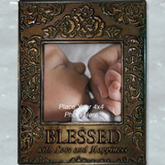 Metal Photo Frame, Blessed  -