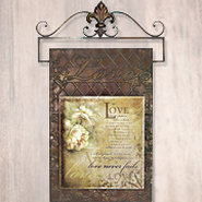 Love Never Fails, Metal Wall Hanging  -