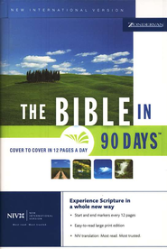 The NIV Bible in 90 Days (1984)--Cover to cover in 12 pages a day  -     Edited By: Ted Cooper Jr.