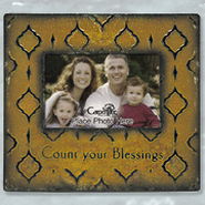 Count Your Blessings Metal Photo Frame  -