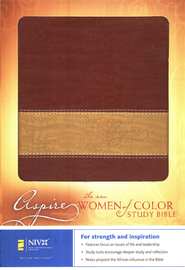 NIV Aspire: The New Women of Color Study Bible Rich Red/Gold Italian Duo-Tone Imitation Leather 1984  -