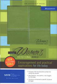 NIV New Women's Devotional Bible Soft leather look, meadow green 1984  -