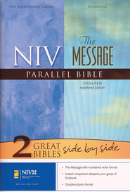 NIV (1984)/The Message Parallel Bible, hardcover (slightly imperfect)  -