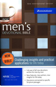 New Men's Devotional Bible, Compact, Hardcover - Slightly Imperfect  -