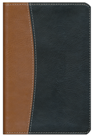 NIV Compact Thinline Reference Bible, Italian Duo-tone, tan/black 1984  -
