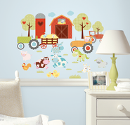 Farm Animals Vinyl Wall Stickers  -