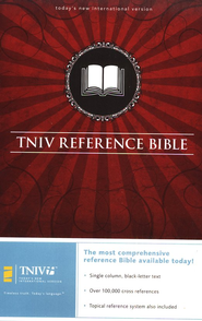 The TNIV Reference Bible--bonded leather, black   -