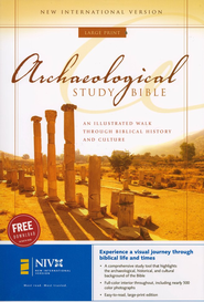NIV Archaeological Study Bible, Hardcover, Large Print  1984  -
