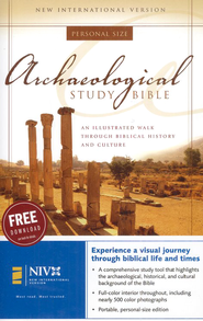 NIV Archaeological Study Bible, Personal Size Hardcover 1984  -