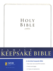 NIV Family Keepsake Bible, Padded Hardcover - Slightly Imperfect  -