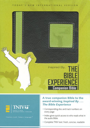 Inspired By...The Bible Experience Companion Bible, Duo-Tone, black/lime  -