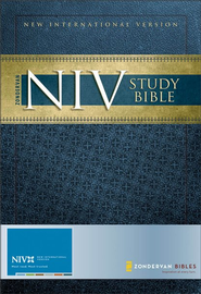 Zondervan NIV Study Bible, Hardcover, Jacketed - Slightly Imperfect  -