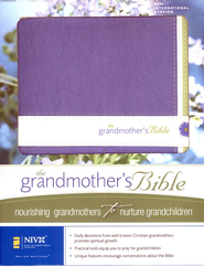 The Grandmother's Bible: NIV: Spring Violet/White, Italian Duo-Tone 1984  -