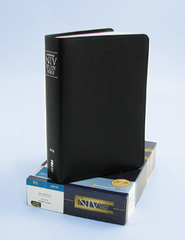 Zondervan NIV Study Bible, Bonded Leather, Black Thumb-Indexed - Slightly Imperfect  -
