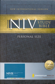 Zondervan NIV Study Bible, Personal-Size--Hardcover - Slightly Imperfect  -