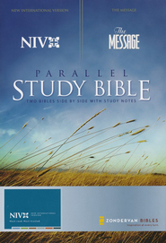 NIV/The Message Remix Parallel Study Bible, Hardcover Numbered Edition - Slightly Imperfect  -