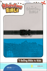 Adventure Bible, NIV, Clip Closure, Italian Duo-Tone, Gray/Blue 1984  -