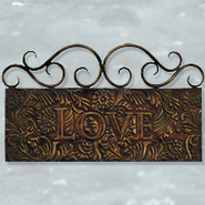 Love Metal Sign  -