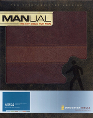 Manual: The NIV Bible for Men Italian Duo-Tone, Chocolate/Dark Caramel 1984 - Imperfectly Imprinted Bibles  -