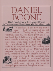 Daniel Boone: His Own Story   -     By: Daniel Boone