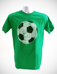 Soccer Word Shirt, Green, Large  -