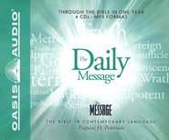 The Daily Message: Through the Bible in One Year - Unabridged Audiobook on MP3  -     By: Eugene H. Peterson