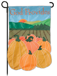 God Provides, Small Applique Flag  -