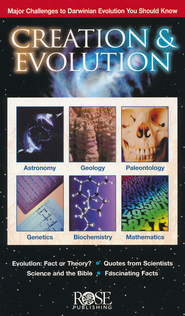 Creation and Evolution Pamphlet - 5 Pack  -