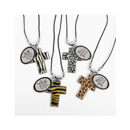 Cross Necklaces Wild About Jesus, Package of 4     -