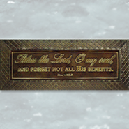 Bless the Lord, O My Soul Metal Plaque  -