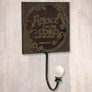 Rejoice in the Lord Metal Wall Hook  -
