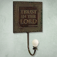 Trust in the Lord Metal Wall Hook  -