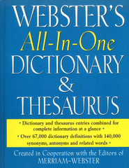Webster's All-in-One Dictionary & Thesaurus   -