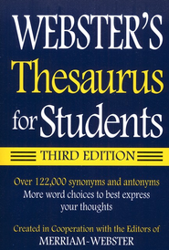 Webster's Thesaurus for Students, Third Edition   -