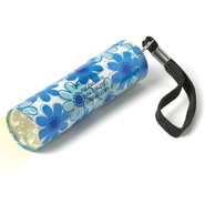 Floral Flashlight with Scripture Verse, Blue   -