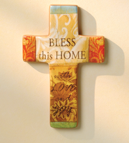 Bless This Home, Ceramic Cross   -              By: Tammy Repp