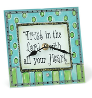 Trust In The Lord, Decorative Clock   -