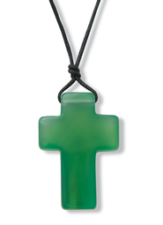 Cross Pendant, Green   -