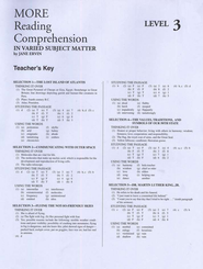 Reading Comprehension in Varied Subject Matter, Answer Key - Grade 11  -     By: Jane Ervin