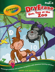 One, Two at the Zoo Dry-Erase Activity Book Grades PreK-K  -