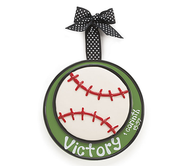 Baseball Ornament, Victory, Large, I Corinthians 15:57    -