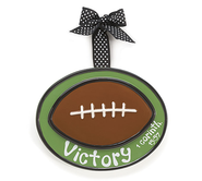 Football Ornament, Victory, Large, I Corinthians 15:57,   -