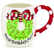 Happy Birthday Jesus Mug  -              By: Carla Grogan